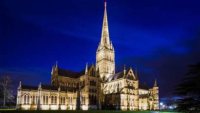 Night Cathedral Salisbury Backiee Landscape