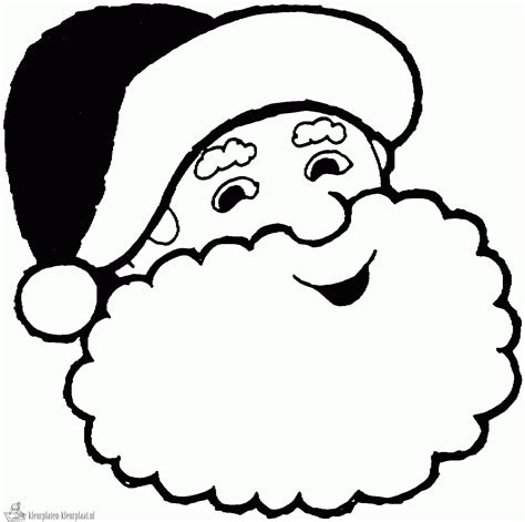 Kleurplaat Santa santa claus clipart coloring pages clipground