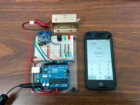 controlling  lock   arduino  bluetooth le