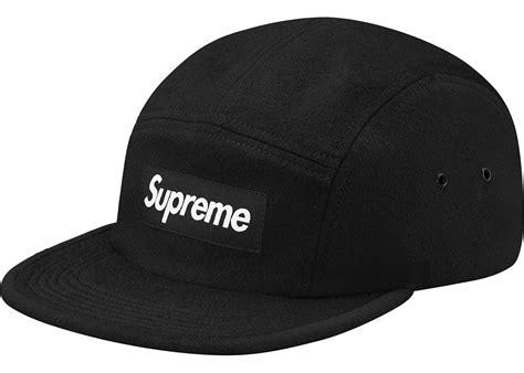 supreme hat supreme wool c cap black