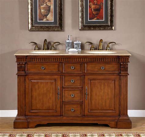 ivory ceramic kitchen sink 55 quot sink cabinet travertine top undermount ivory 4882