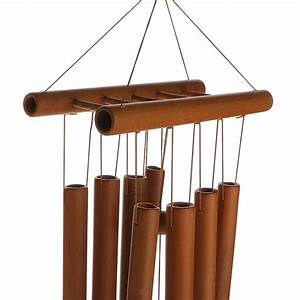 Rustic, Bamboo, Tube, Wind, Chimes, Mobile, Windchime, Church, Bell, Hanging, Decor, Pick