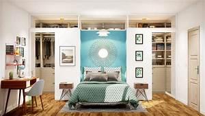 Idee Amenagement Dressing : chambre avec dressing installation d 39 un dressing chambre de 18m2 ~ Melissatoandfro.com Idées de Décoration