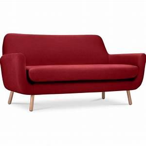 canape rouge 2 places maison design modanescom With canapé 2 places convertible style scandinave