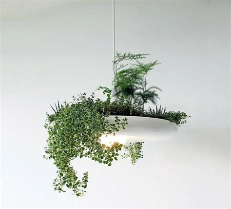 babylon light hanging garden light fixture  green head