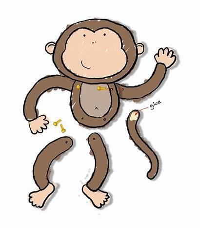 Monkey Craft Crafts Template Preschool Monkeys Cut
