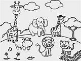 Zoo Coloring Pages Printable Cute Animal sketch template