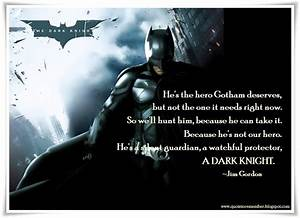 Dark Knight Quotes Hero. QuotesGram