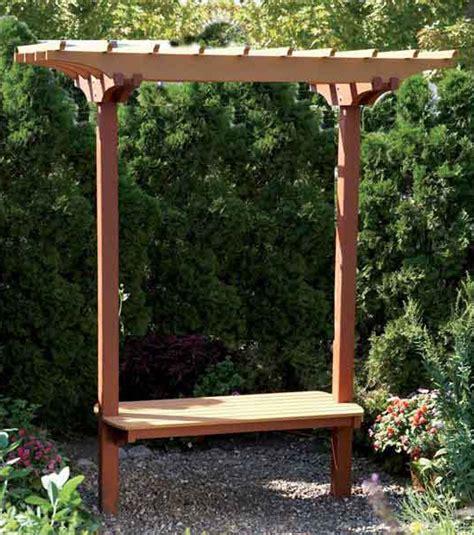 garden benchtrellis woodworking plan  wood magazine