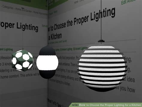 how to choose kitchen lighting 3 ways to choose the proper lighting for a kitchen wikihow 7210