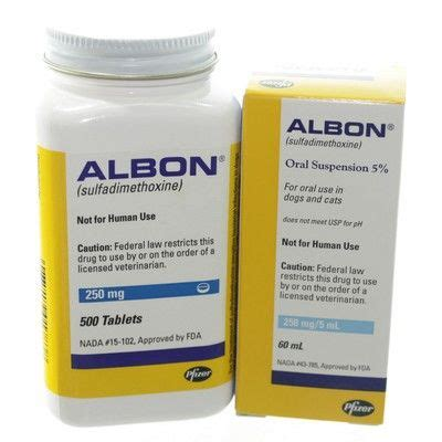 albon for cats albon sulfadimethoxine liquid and tablets for pets