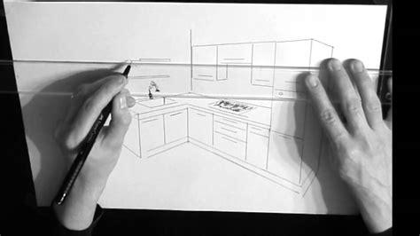dessiner en perspective une cuisine dessin cuisine en perspective