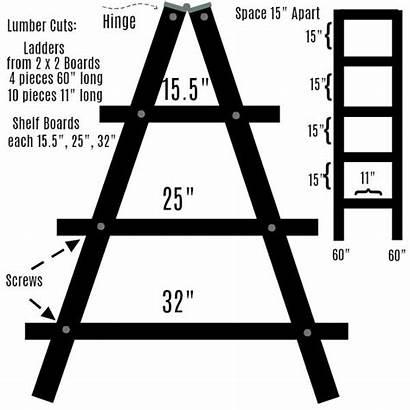 Plant Stand Ladder Diy Easy Lumber Shelf