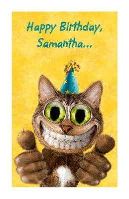 youre  cool cat greeting card happy birthday