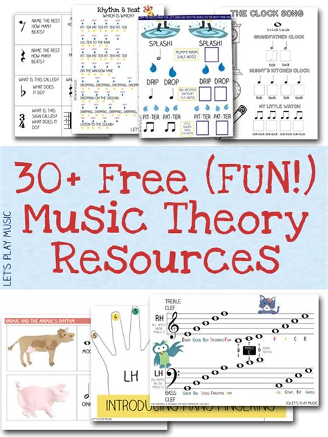 free resources free sheet and theory printables