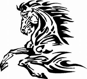 Animal Decals :: Horse Decals :: Tribal Horse Decal ...