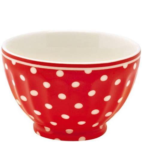 torchons et serviettes cuisine joli petit bol à pois en faïence greengate en vente