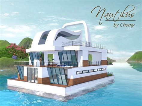 Houseboats Sims 3 by Chemy S Nautilus Modern House Boat