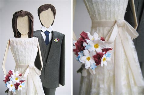 concarta paper sculpture cake toppers  weddings