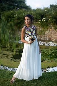 Robe Blanche Longue Boheme : longue robe blanche boheme la mode des robes de france ~ Preciouscoupons.com Idées de Décoration