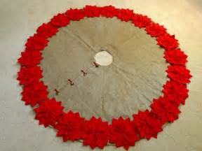 72 christmas tree skirt in a natural burlap with by