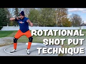Shot Put Spin Technique - YouTube