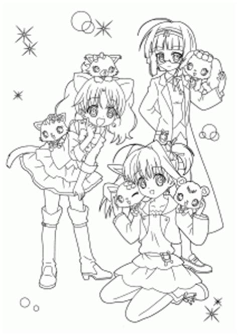 Manga Jewelpet coloring pages for kids printable free