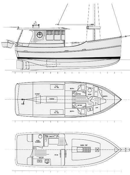 island trader  power cruisertrawler boat