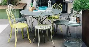 Mobilier De Jardin Fermob : chaise montmartre chaise en m tal mobilier de jardin ~ Dallasstarsshop.com Idées de Décoration