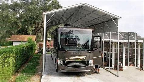 Rv Carport by Metal Rv Carports Rv Cover Kits Custom Rv Shelters For