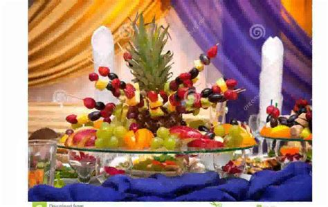 fruit table decoration youtube