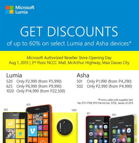 microsoft philippines davao authorized reseller store opening details get discounted lumia and