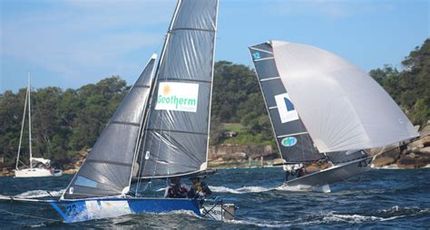 Skiff Versus Boat by Sydney Sailmakers Defend 12ft Skiff Australian Title