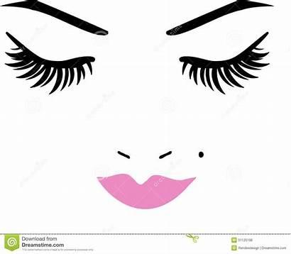 Eyes Closed Lips Eyelashes Eyelash Clipart Eye