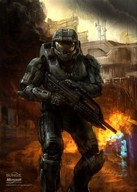 Master Chief Halo Concept Art Isaac Hannaford Marine