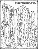 Mazes Printable 3d Coloring Pages sketch template