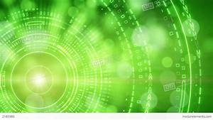 Green Abstract Background Lights And Tech Circles Stock ...