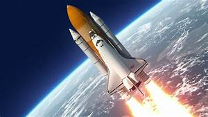 Space Shuttle Launch. 3D Animation. - HD stock footage clip