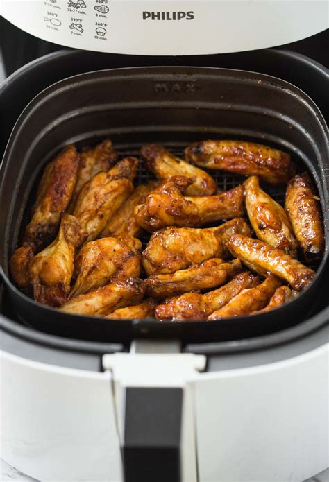chicken wings fryer air bbq cook long easy eat sauce