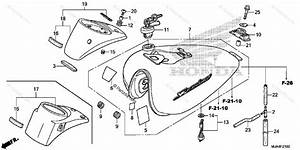 Honda Motorcycle 2012 Oem Parts Diagram For Fuel Tank  1