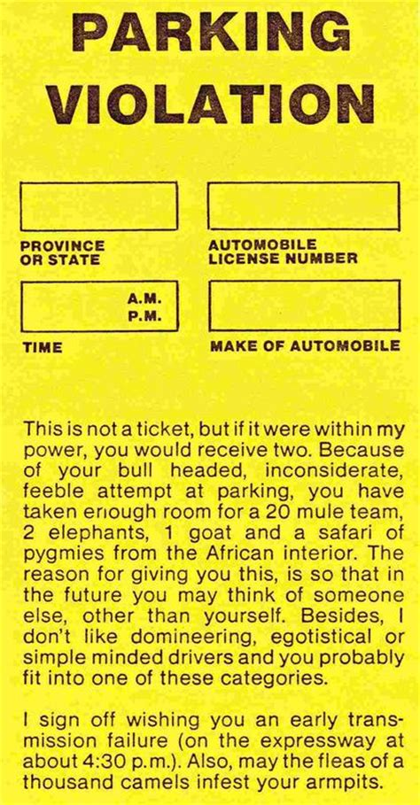 printable parking ticket   aashe