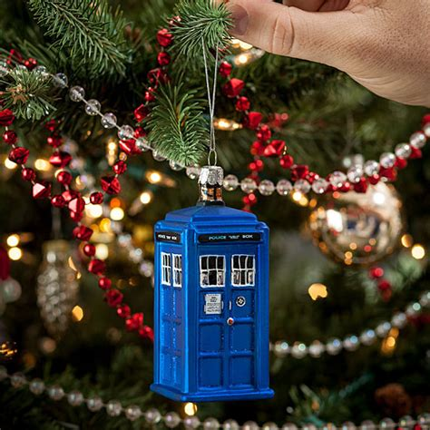 doctor who christmas tree ornaments doctor who tardis ornament