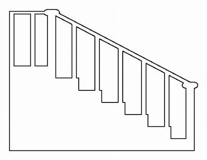 Stairs Pattern Printable Outline Stencils Templates Template