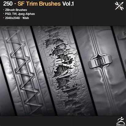 Zbrush Brushes Trim Gumroad Vol Sf Brush