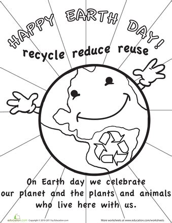 recycle reuse learn 9 earth day printables education