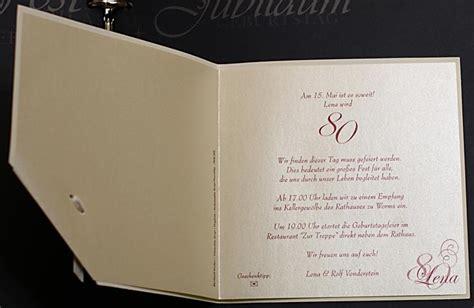 einladungskarte jubilaeum geburtstag ornament perlmutt baendchen