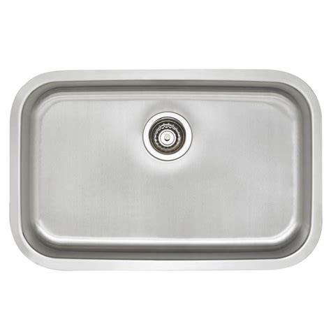 stainless steel undermount single bowl kitchen sink blanco stellar undermount stainless steel 28 in single 9788