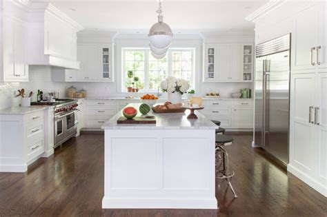White Transitional Kitchen  Transitional  Kitchen New