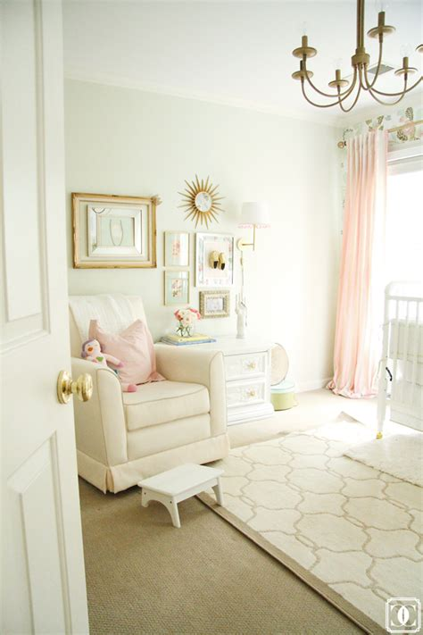 Mint Curtains For Nursery by A Pretty Palette Of Coral Mint Florals Brass Ivory In