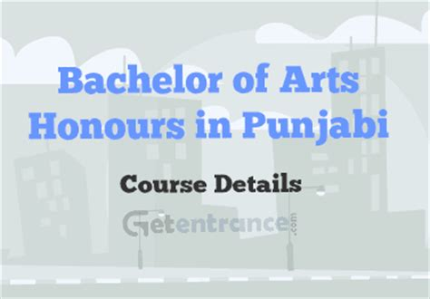 How To Write Bachelor Of Arts Honours On Resume by Bachelor Of Arts Honours In Punjabi Course Details
